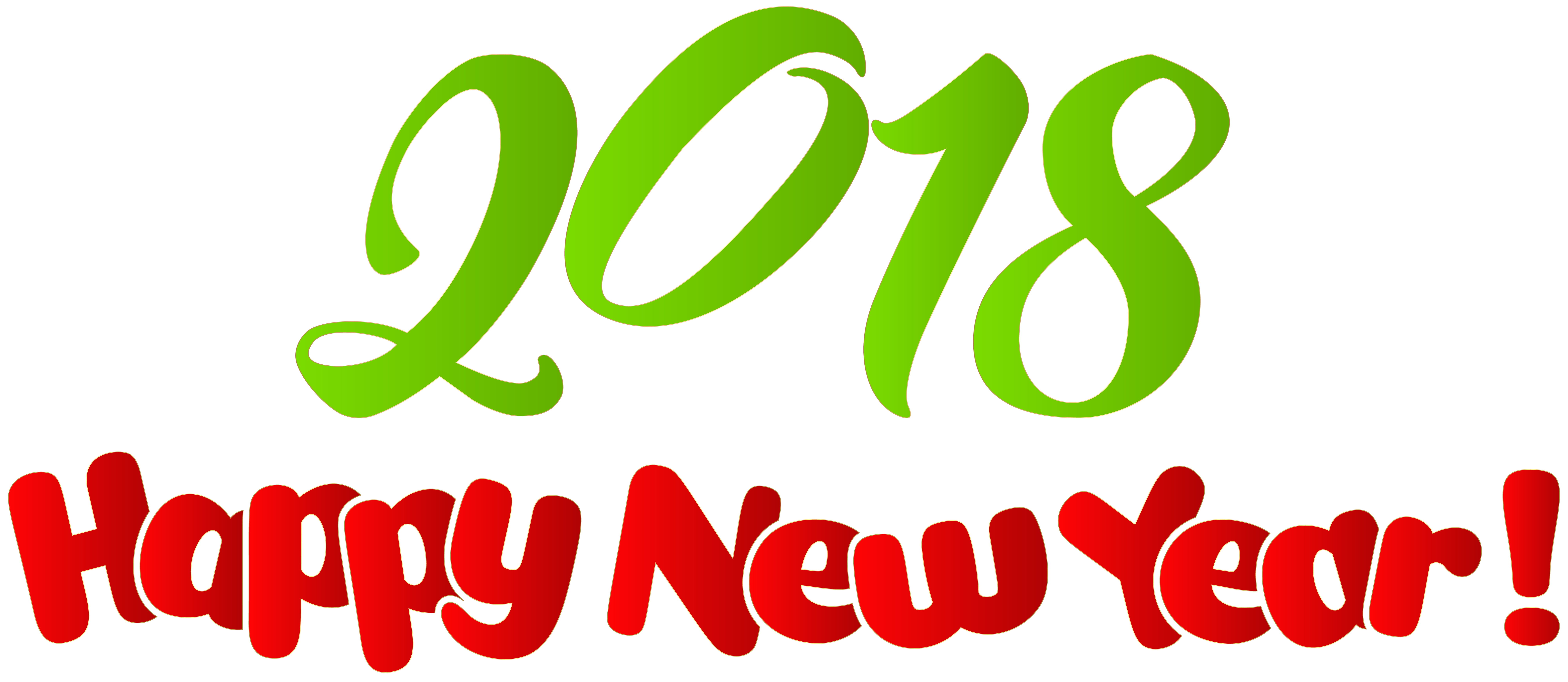 happy year png. Free new years 2018 clipart