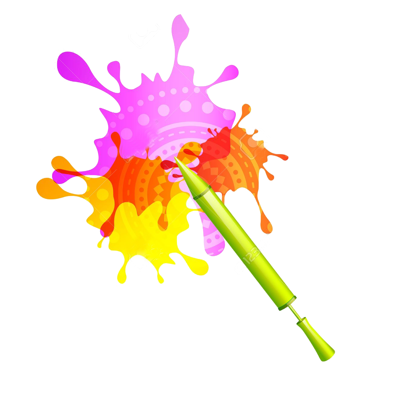 2018 colorful clipart transparent image free library Transparent Clipart Image holi pichkari with colorful splash - Free ... image free library