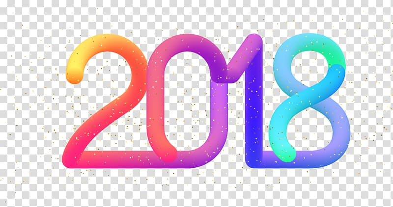 2018 colorful clipart transparent clip art download Numerical digit Arabic numerals, colorful 2018 transparent ... clip art download