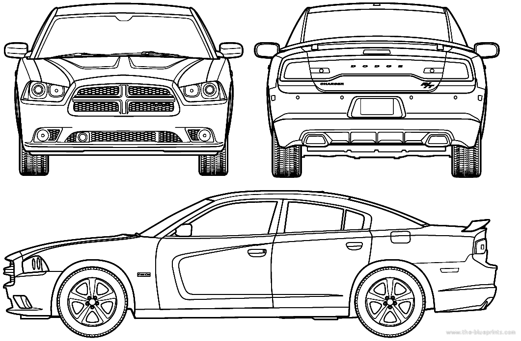 2018 dodge charger clipart svg black and white Dodge Charger Rt Clipart & Free Clip Art Images #35095 ... svg black and white