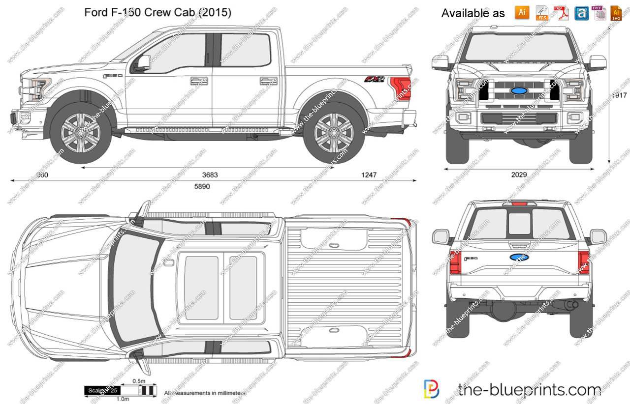 2018 f 150 clipart clip art transparent stock Ford F-150 Crew Cab vector drawing clip art transparent stock