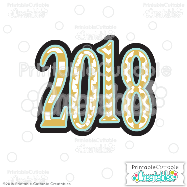 Free 2018 clipart clip free stock 2018 Free SVG File & Clipart for Silhouette, Cricut cutting machines clip free stock