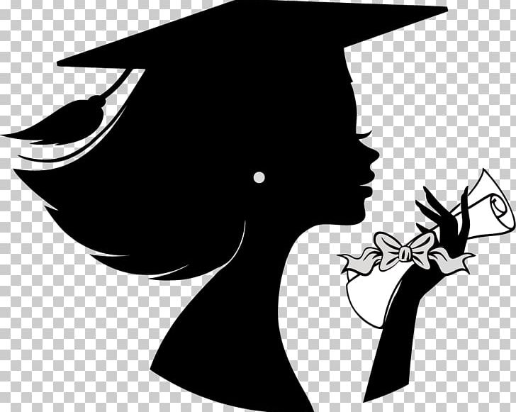 2018 graduation blocks clipart png banner royalty free Graduation Ceremony Silhouette Female Girl PNG, Clipart, Animals ... banner royalty free