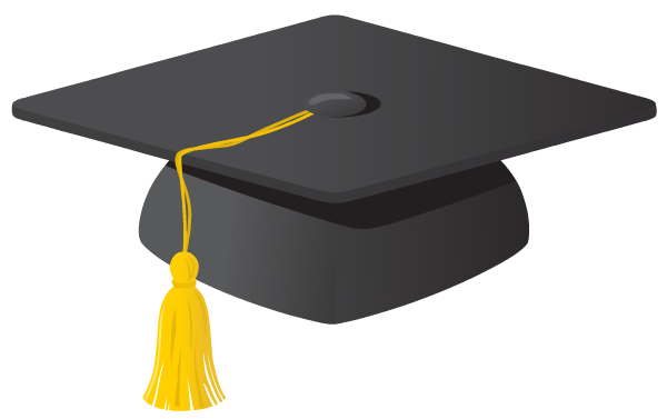 Grad hat clipart picture black and white stock Free Graduation Clip Art | Seminary Graduation planning | Graduation ... picture black and white stock