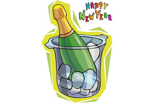 2018 new years eve bottle clipart jpg Happy New Years Clipart Free   Free download best Happy New Years ... jpg