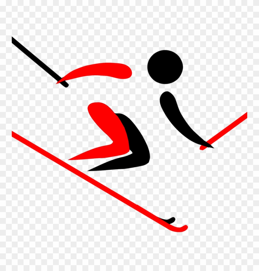 2018 olympic clipart clip Alpine Skiing Clipart Pyeongchang 2018 Olympic Winter - Skier ... clip