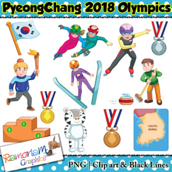 Winter Olympics 2018 Clip art vector royalty free stock