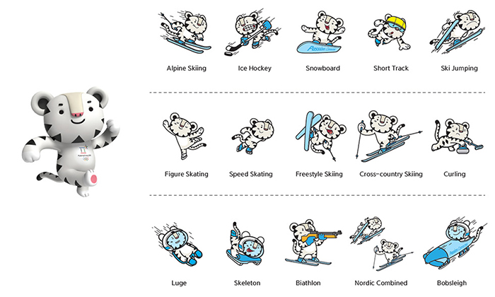 2018 olympic mascot snowboard clipart svg black and white HomestayKorea ::: What\'s on Korea - News - Mascots unveiled for ... svg black and white