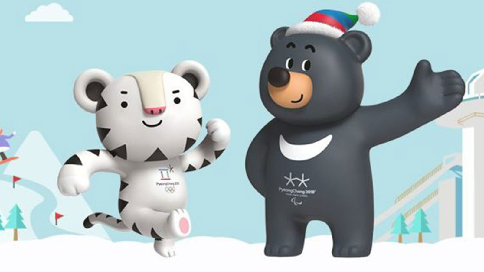 2018 olympic mascot snowboard clipart clip freeuse download All About Soohorang and Bandabi, the PyeongChang 2018 Winter Olympic ... clip freeuse download