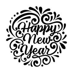 Happy new year black and white free clipart clip art library library 15 Best Happy New Year 2019 Clipart images | Happy new year 2019 ... clip art library library