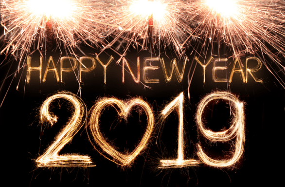 2018 peaceful new year clipart image black and white library Advance Happy New Year Eve 2020 Wishes Quotes Messages Greetings ... image black and white library
