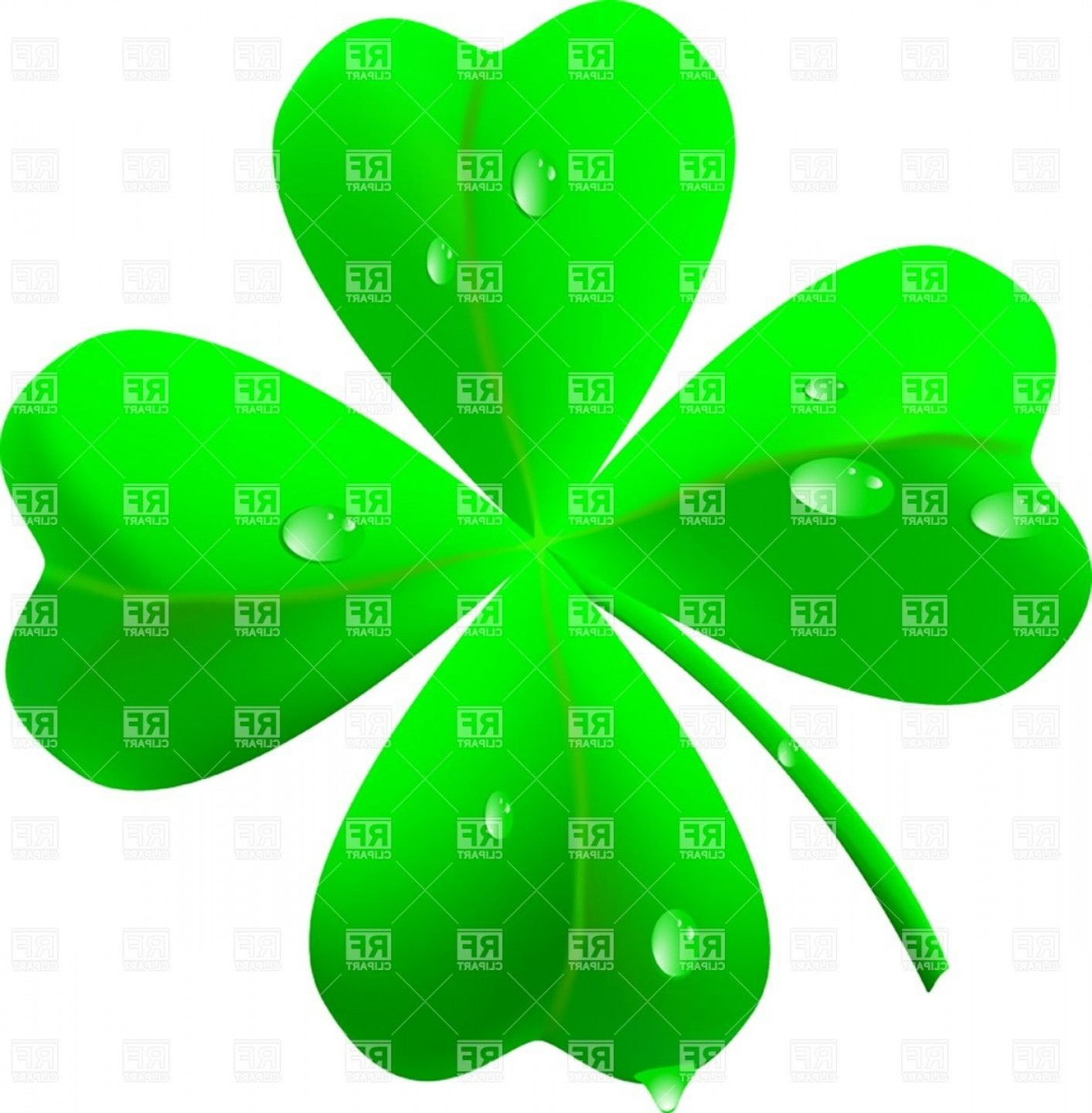 2018 with shamrocks clipart vector library stock Symbol Of St Patricks Day Four Leaf Clover Shamrock Vector Clipart ... vector library stock