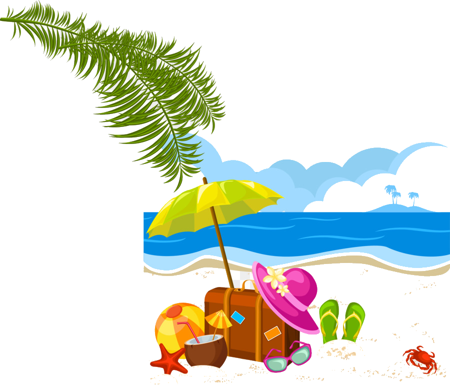 2019 beach vacation clipart clip art freeuse library Holiday Summer Vacation Clip Art Vector Beach Transparent Png - AZPng clip art freeuse library