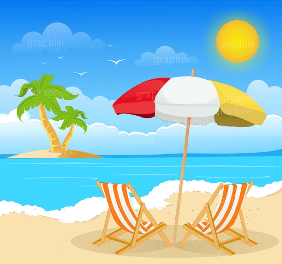 2019 beach vacation clipart picture library library Holiday Clipart Beach Image Summer Commercial Use Vector Graphics ... picture library library
