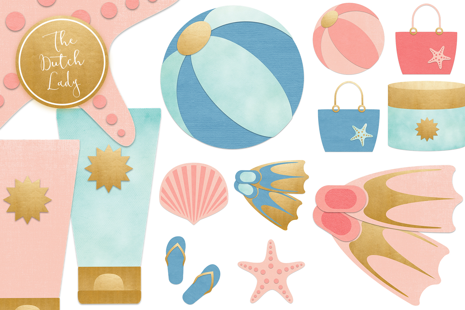 2019 beach vacation clipart banner transparent library Summer Beach Vacation Clipart Set banner transparent library