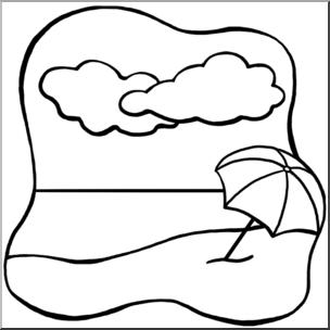 2019 b&w clipart transparent Clip Art: Beach B&W I abcteach.com | abcteach transparent