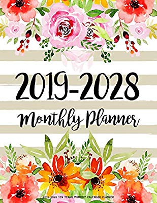 2019 cjanuary calendar clipart graphic freeuse 2019-2028 Ten Years Monthly Calendar Planner: Ten Years | January ... graphic freeuse