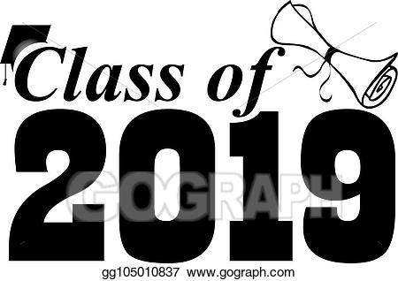 EPS Illustration - Class of 2019 with graduation cap. Vector Clipart ... image transparent stock