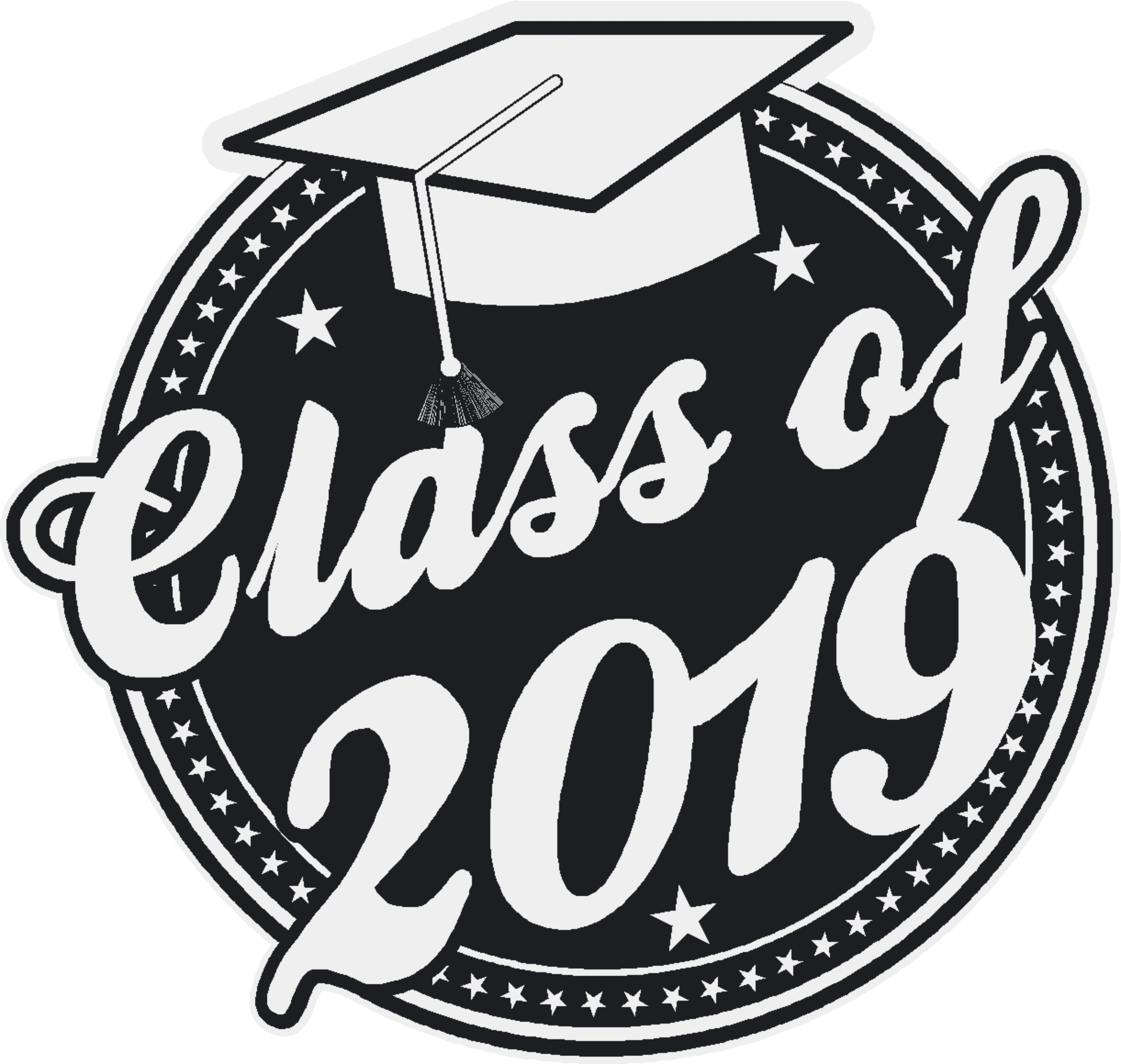 2019 class clipart jpg freeuse Class of 2019 Graduation Window Cling jpg freeuse