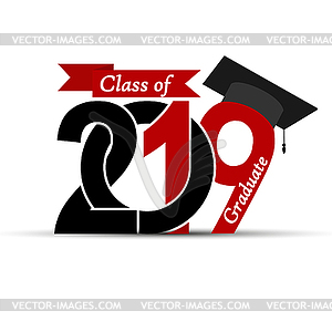2019 class clipart png library Graduate and Class 2019 with graduate cap - vector clipart png library