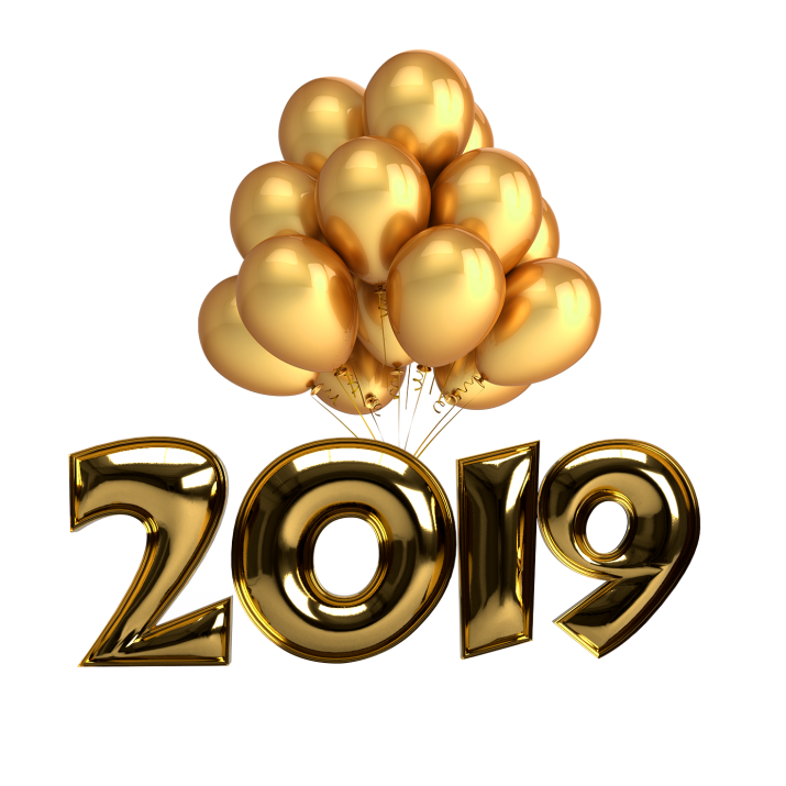 2019 clipart transparent picture transparent 2019 Golden Balloons PNG Image Free Download searchpng.com picture transparent