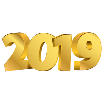 2019 clipart transparent picture stock 2019 Golden Digits Happy New Year transparent PNG - StickPNG picture stock