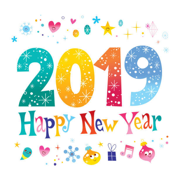 Free clipart for the new year 2019 jpg royalty free Royalty Free Happy New Year 2019 Clipart - Clipart Junction jpg royalty free