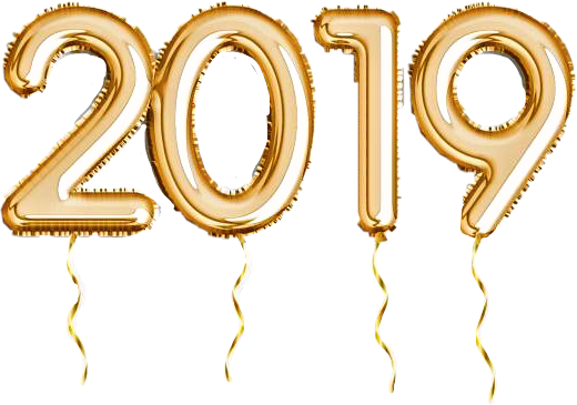 2019 gold balloons clipart graphic free 2019 balloons gold party celebrate newyear happy freeto... graphic free