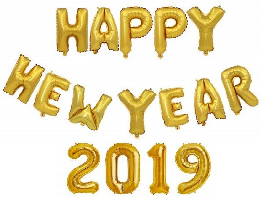 2019 gold balloons clipart graphic freeuse download Flipkart.com | ToyNext Solid Happy New Year Foil 2019 Balloons ... graphic freeuse download