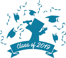 Class of 2019 black and gold clipart vector free stock Free Graduation Clipart - Clip Art Pictures - Graphics - Illustrations vector free stock