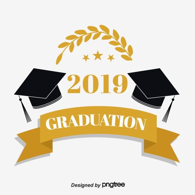 Free 2019 graduation clipart. Symmetrical hat wheat spike