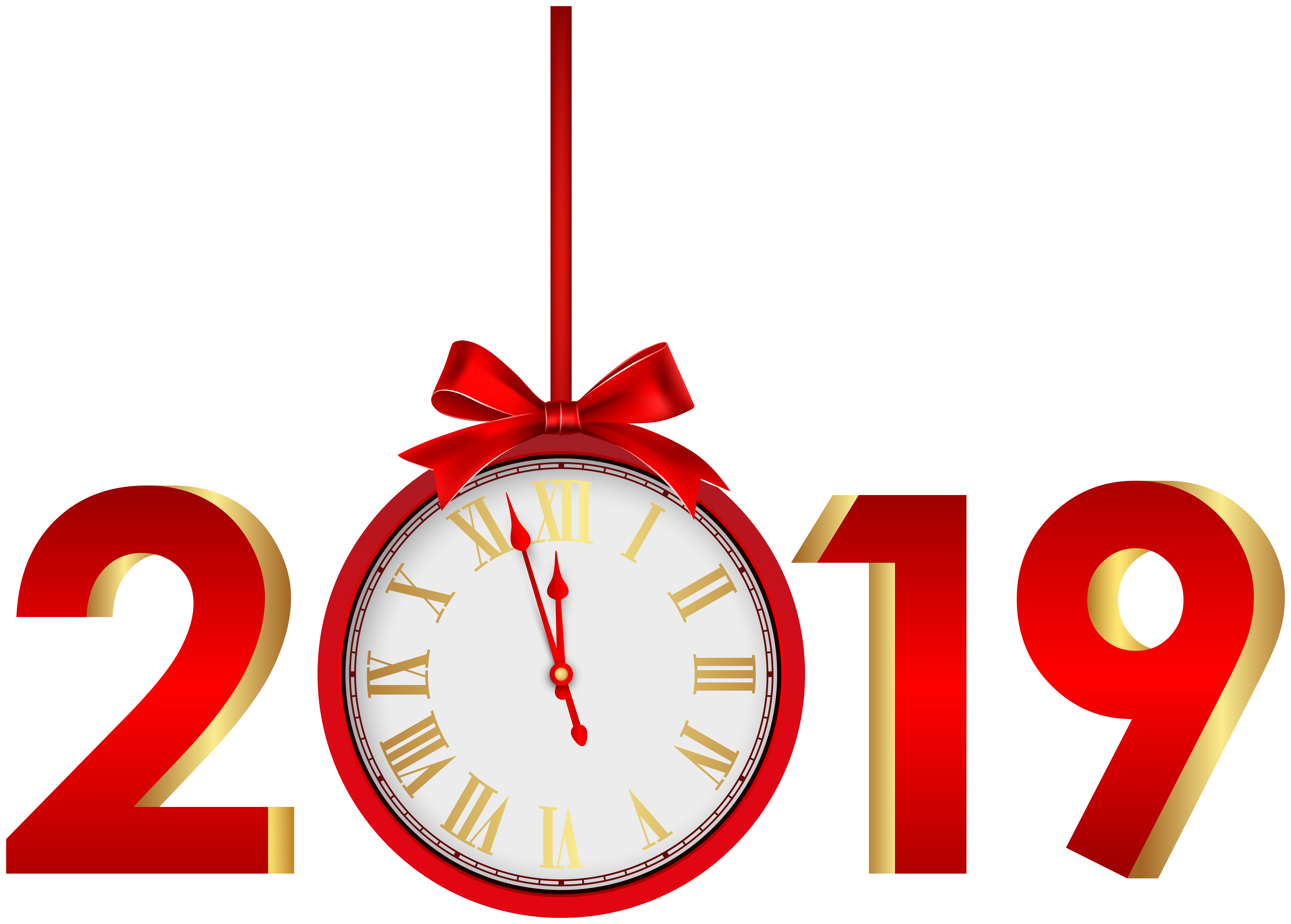 2019 in red clipart banner royalty free 2019 with Clock Red PNG Clip Art Image | Gallery Yopriceville ... banner royalty free
