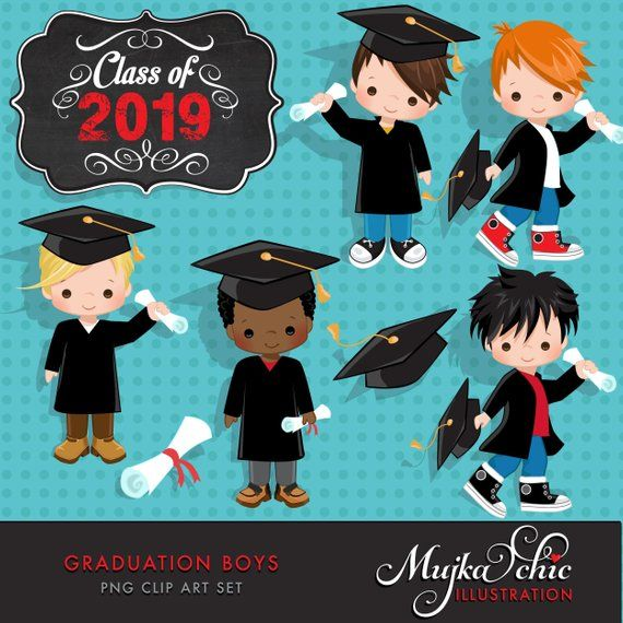 2019 kindergarten graduate clipart svg royalty free Graduation Clipart. Graduation graphics, cape, scroll, cap, class of ... svg royalty free