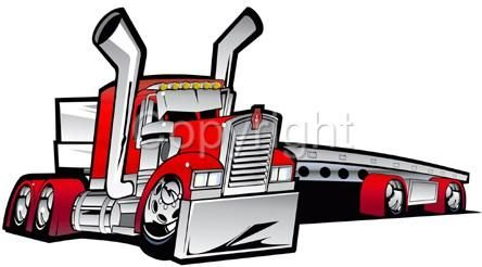 2019 semi truck clipart vector black and white download Details about Kenworth Big Rig Flatbed Truck Hauler Cartoon Tshirt ... vector black and white download