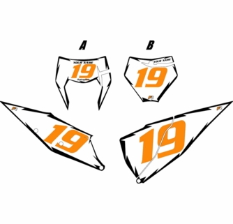2019-2020 number clipart picture library stock Fits KTM 450 SX-F 2019-2020 White Pre-Printed Backgrounds - Black ... picture library stock
