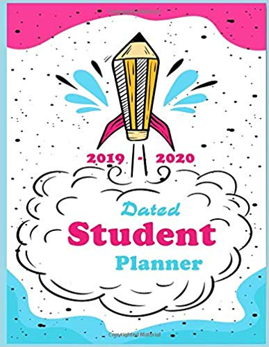 2019-2020 number clipart svg stock Dated Student Planner 2019 -2020: elementary High School University ... svg stock