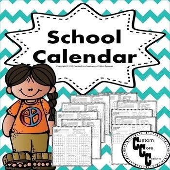 2020 2021 2022 2023 clipart png free School Calendar Bundle (Teacher and student version) Back to School ... png free