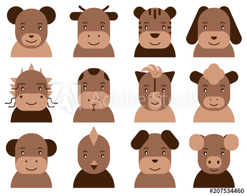 2020 2021 2022 2023 clipart clipart royalty free download Chinese horoscope flat icon: pig, rat, ox, tiger, rabbit, dragon ... clipart royalty free download