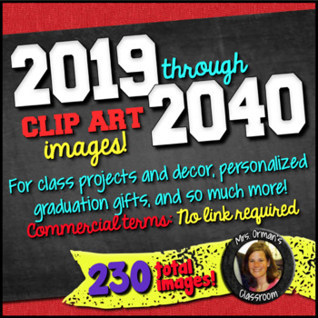2020 2021 2022 2023 clipart banner transparent 2019-2040 Year Clip Art Graphics for Commercial & Personal Use banner transparent