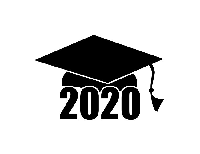 Graduation information enclosed clipart black and white Graduation Cap 2020 Clip Art | Free Geographics Clip Art black and white