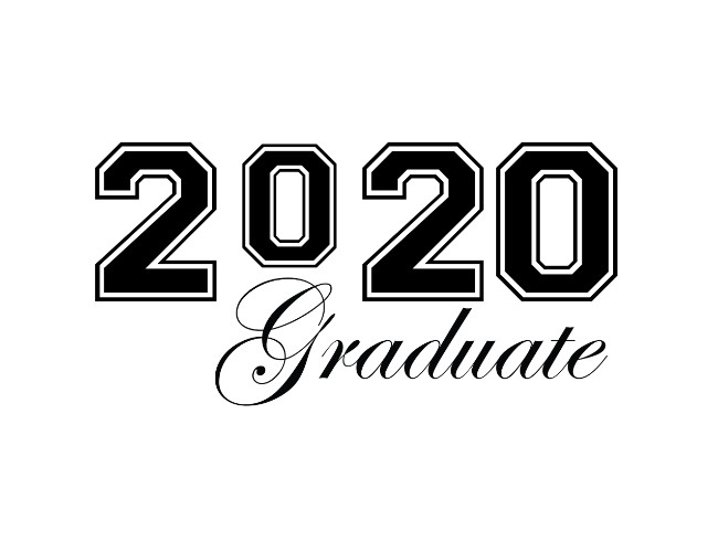 Clipart 2020 vector black and white stock Graduate 2020 Graduation Clip Art | Free Geographics Clip Art vector black and white stock
