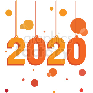 Clipart 2020 clipart orange 2020 new year clipart no background . Royalty-free clipart # 410038 clipart