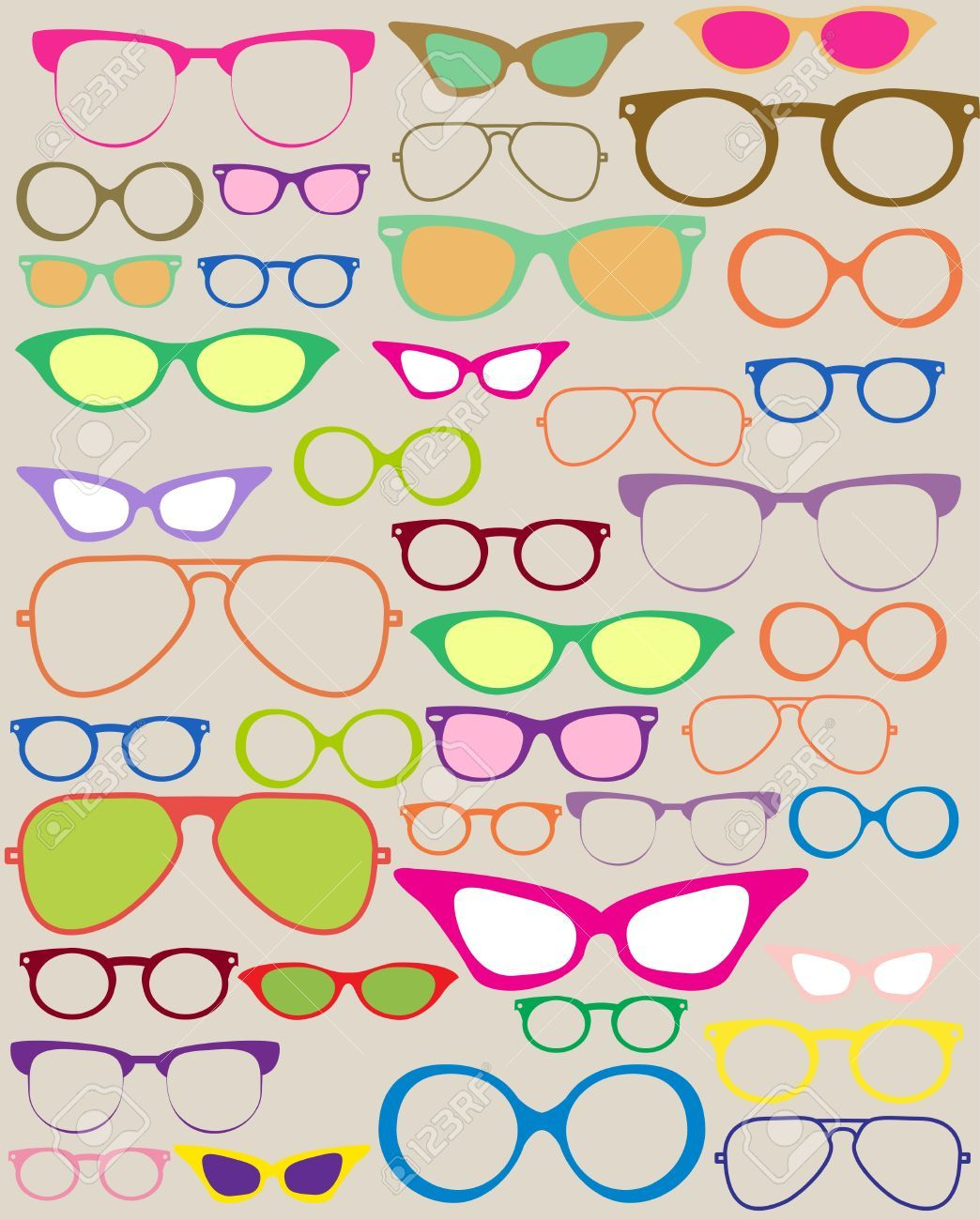 Stock Vector in 2019 | 2020 | Eyeglasses, Optical frames, Clipart images graphic library stock