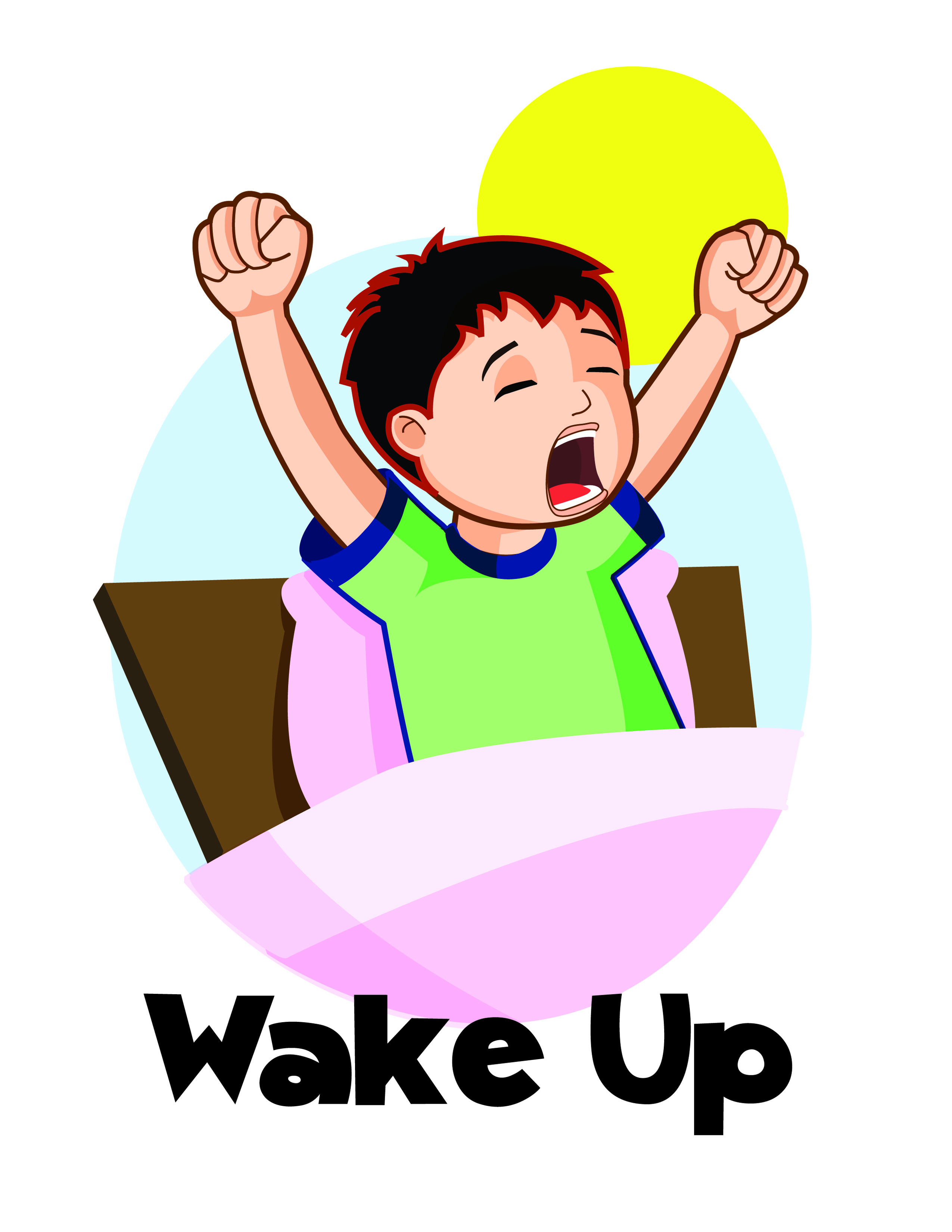 Clipart boy waking up vector library library Clip Art Daily Life by | Clipart Panda - Free Clipart Images vector library library