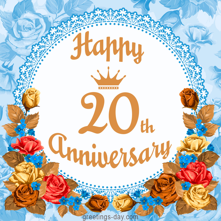 20th anniversary free clipart banner stock Happy 20th Anniversary - Free Greetings and Wishes. banner stock