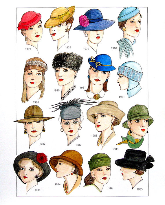 20th century women clipart vector freeuse library 20th Century Fashion Design - Women\'s Hats, Jewelry, Accessories ... vector freeuse library