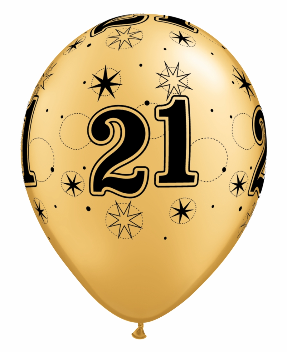 21 gold balloon clipart vector royalty free 21 Png Transparent Background - 21st Birthday Black And Gold ... vector royalty free