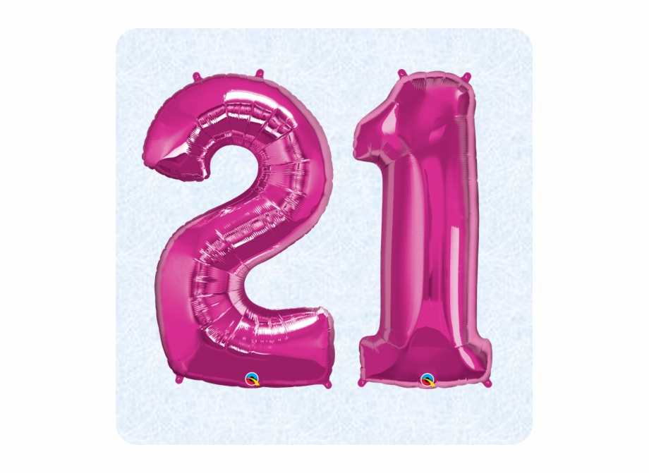 21 ballon clipart vector free 21st Birthday Pink 21 Balloons Free PNG Images & Clipart Download ... vector free