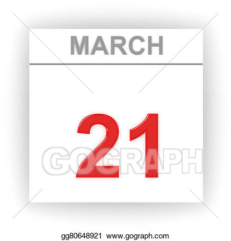 21 days clipart clipart Stock Illustration - March 21. day on the calendar. Clipart ... clipart