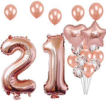 21 gold balloon clipart jpg free 21st Birthday Decorations Party Supplies, Jumbo Rose Gold Foil Balloons for  Birthday Party Supplies,Anniversary Events Decorations and Graduation ... jpg free